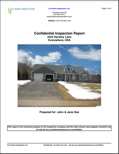 home inspection reports